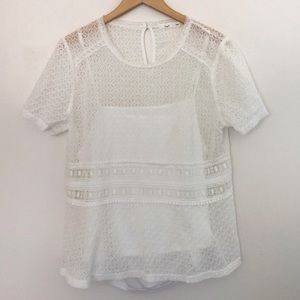 Anthropology Hazel white lace top size xxl